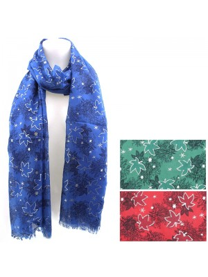 Ladies Tree & Snowflakes Design Fashion Scarf - Assorted Colours