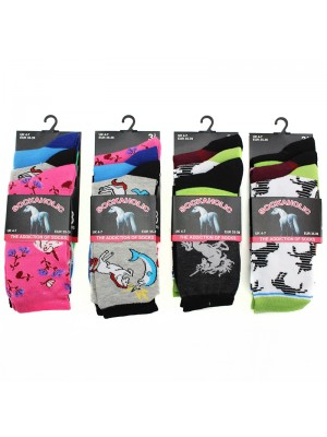 Teens Unicorn Design Socks - Assorted Designs