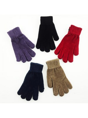 Ladies Velvet Magic Gloves - Assorted Colours