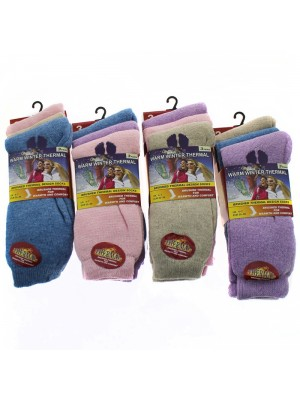 Ladies' Warm Winter Thermal Socks - Pastel Assortment