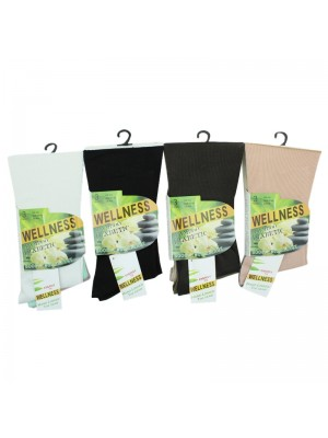 Ladies Wellness Diabetic Bamboo Socks - Assorted Colours