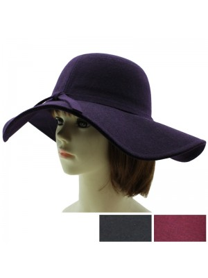 Ladies Wide Brim Floppy Hat - Assorted Colours