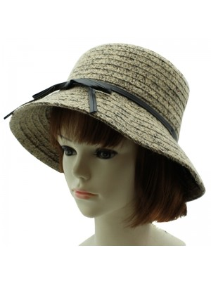 Ladies Wool Blend Cloche Hat with Band - Assorted Colours
