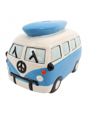 Large Blue Campervan Moneybox - 14cm