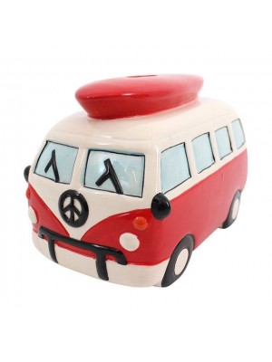 Large Red Campervan Moneybox - 14cm