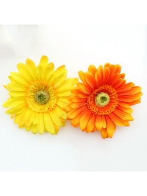 Large Sunflower On Clip & Safety Pin - Assorted Colours