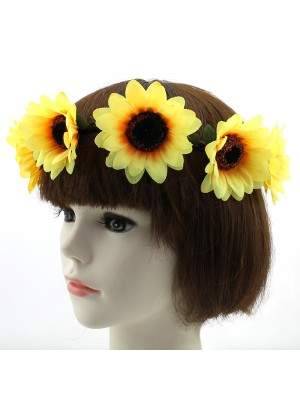 Large Sunflower on Elastic Headband