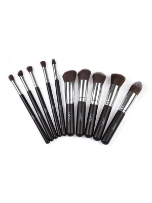 Wholesale Laroc 10 Piece Kabuki Brush Make Up Set - Black