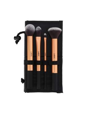 Wholesale Laroc 4 Piece Make Up Brush Set - Black