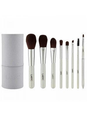 Wholesale Laroc 8 Piece Professional Make Up Artist Brush Set in Tube Case - White