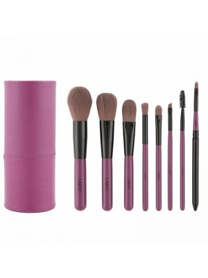 Laroc 8 Piece Professional Make Up Artist Brush Set in Tube Case - Purple
