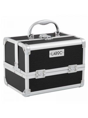 Wholesale Laroc Aluminium Professional Makeup Vanity Travel Case - Black