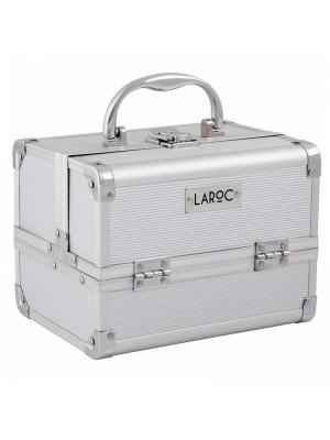 Wholesale Laroc Aluminium Professional Makeup Vanity Travel Case - Silver