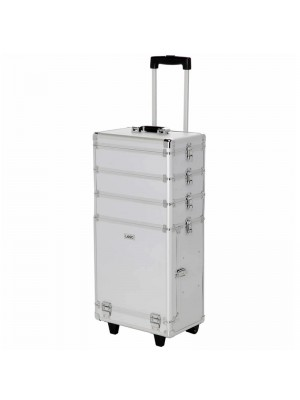 Wholesale Laroc Large Professional Makeup Trolley Vanity Case - Silver