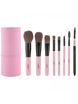Laroc 8 Piece Professional Make Up Artist Brush Set in Tube Case - Pink