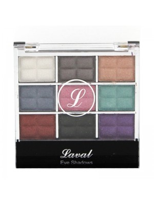 Wholesale Laval 9 Colour Eyeshadow Pallette - Shimmering Eyeshadows No.1