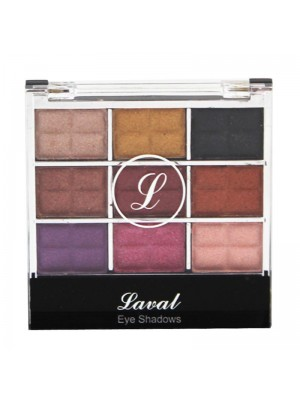 Wholesale Laval 9 Colour Eyeshadow Pallette - Shimmering Eyeshadows No.2