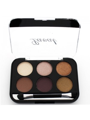Laval Long Lasting 6 Colour Eye Shadow Palette - Brown