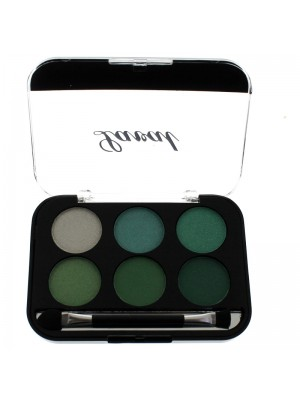 Laval Long Lasting 6 Colour Eye Shadow Palette - Green