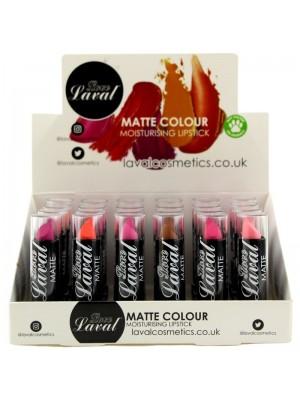Wholesale Laval Matte Colour Moisturising Lipsticks