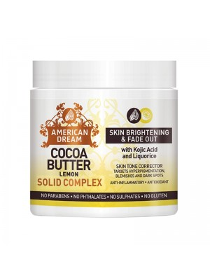 Wholesale American Dream Cocoa Butter Skin Brightening & Fade Out Solid Complex - Lemon (4 oz)