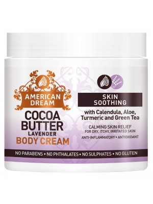 Wholesale American Dream Cocoa Butter Skin Soothing Body Cream - Lavender (16 oz)