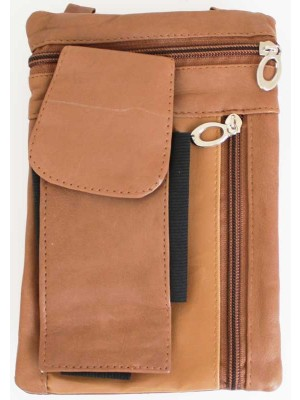 Wholesale Ladies Leather Purse With Leather String-Tan