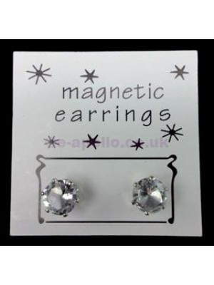 Round Magnetic Earrings - Clear (5 mm)