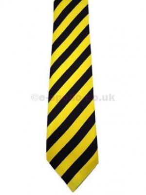 Black & Yellow Stripe Tie
