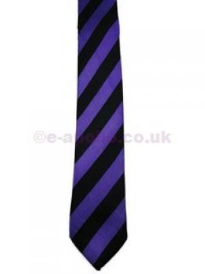 Purple & Black Stripe Tie