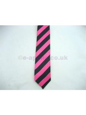 Pink & Black Stripe Tie