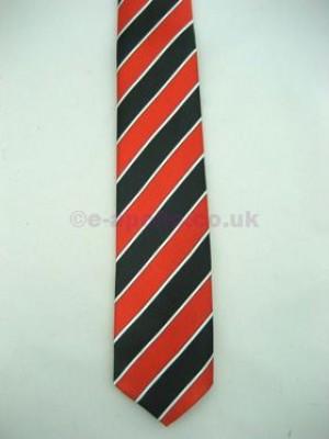Red & Black Stripe Tie