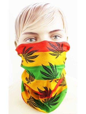 Wholesale Multifunctional Reusable Face Covering - Leaf Print