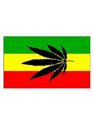 Leaf Reggae Flag - 5ft x 3ft
