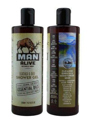 Wholesale Man Alive Shower Gel For Mens - Leather & Oud