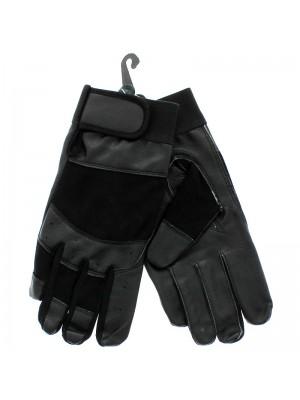 Unisex Leather Driving Gloves - Black (Dozen)