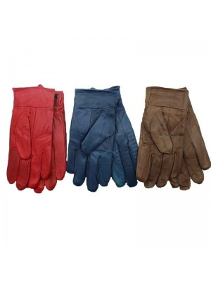 Leather Gloves - Assorted Colours S/M & M/L