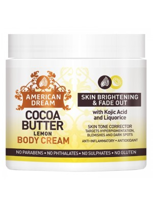 Wholesale American Dream Cocoa Butter Skin Brightening & Fade Out Body Cream - Lemon (16 oz)