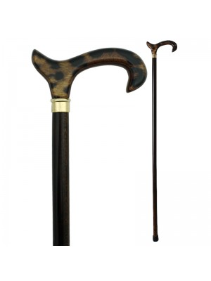 Leopard Derby Handle Walking Stick