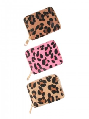 Ladies Leopard Design Coin Purse - Assorted Colours