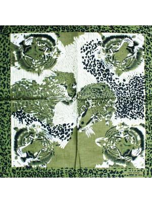 Leopard Print Bandanas - Khaki Green
