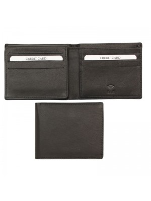 Mens RFID Woodbridge Genuine Leather Wallet 9 Card Slots - Black