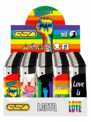 """Wholesale GSD Electronic """"LGBTQ"""" Design Refillable Lighters"""