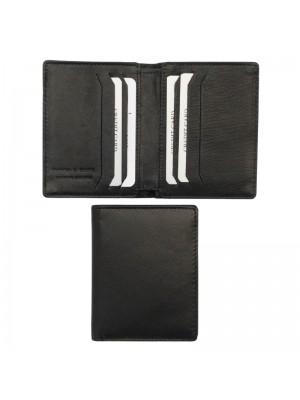 Wholesale Mens RFID Woodbridge Genuine Leather Wallet 6 Card Slots - Black