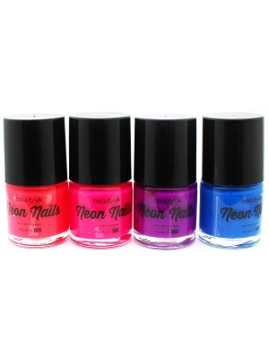 Wholesale Beauty UK Neon Nail Paint-4x9ml(Assorted Shades)