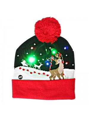 Led Light Up Christmas Beanie Hat