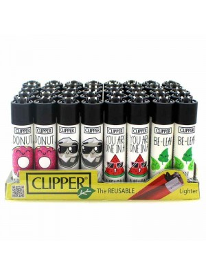 Wholesale Clipper Flint REUSABLE Lighters - Funny Time