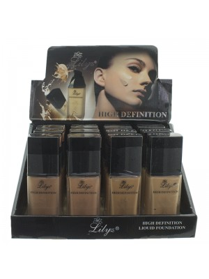 Lilyz High Definition Liquid Foundation - Assorted Colours
