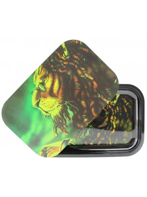Wholesale Lion Metal R-Tray With Magnetic Lid - (28.8 x 18.8 cm)