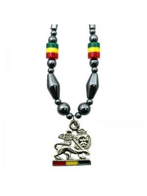 Wholesale Lion of Judah Necklace - Rasta Colours